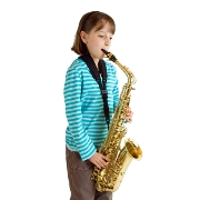 Little Girl Playing Saxophone